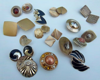Lot Of Vintage Clip Earrings