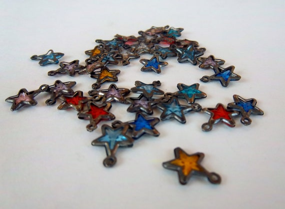 Small Antiqued Star Charms