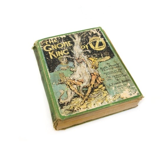 "Antique First Edition ""The Gnome King of Oz"" with original Color Plates"