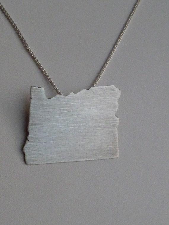 Sterling silver Oregon pendant