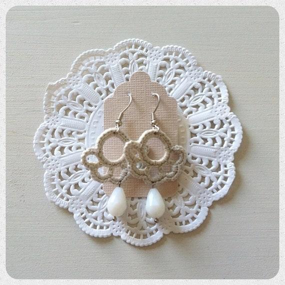 Crochet earrings Meringue Classic