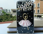 iPhone 4s case iPhone cover  loves pink Ballet girl Fashion case iphone case  cell phone cases phone covers