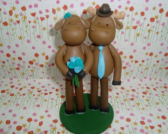Custom Made Moose Cake Topper
