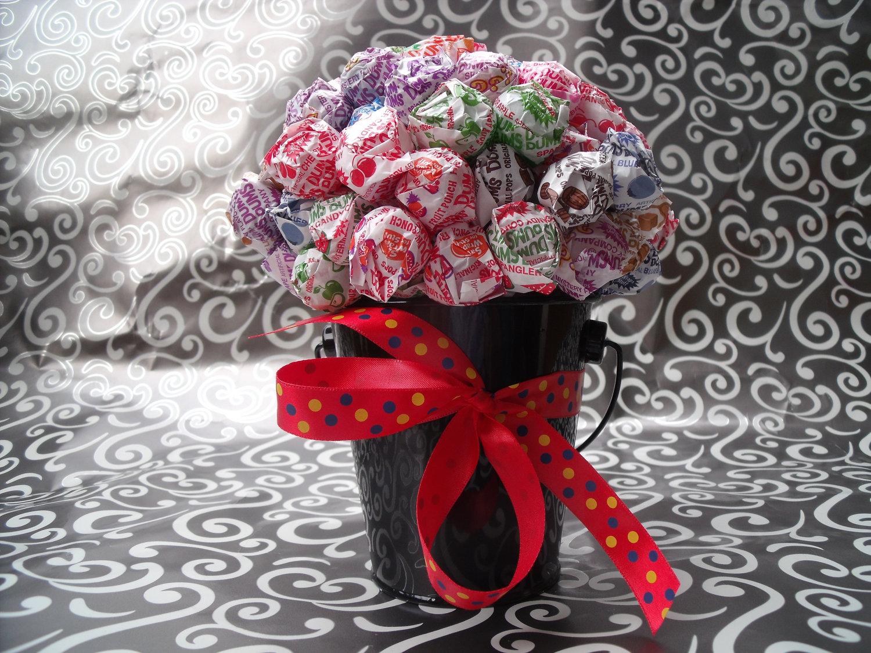 Candy Holder Centerpiece : Dum lollipop candy bouquet centerpiece tree