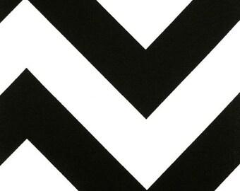 Premier Prints Zippy Black White Bold Zig Zag Chevron by the 1/2 Yard