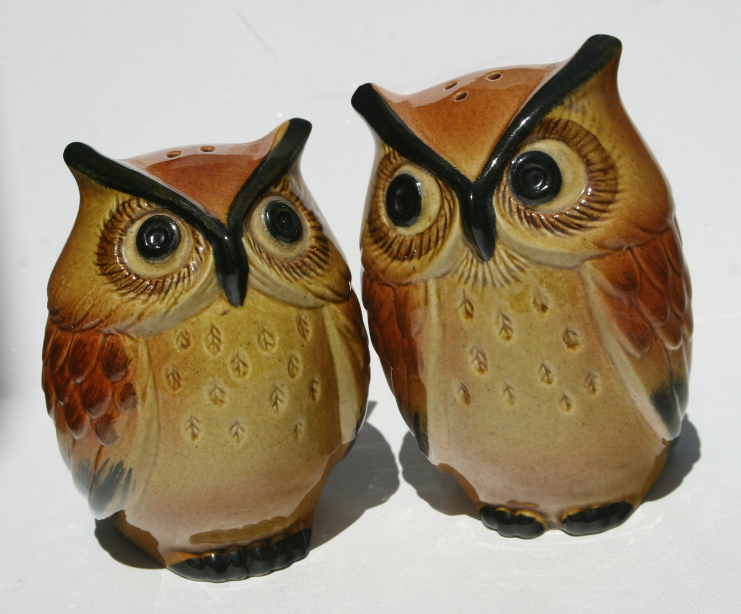 1965 Rare Metlox Poppytrail Ceramic Large Owl Kitchen Salt And