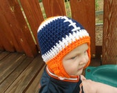 Custom - Crochet - NFL Football Hat - Pick Your Favorite NFL Team - College Team - Newborn through Adult sizes