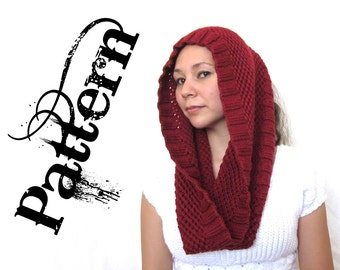 Knitting Pattern - One Skein Netting Lace Inifinity Scarf