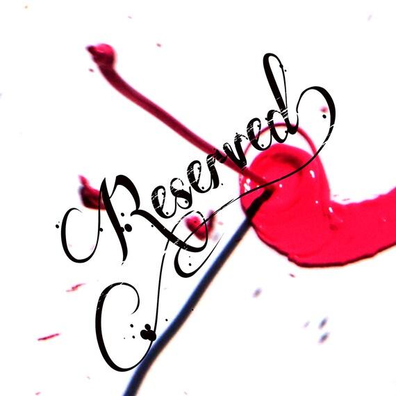 RESERVED for Kristin - 3rd installment
