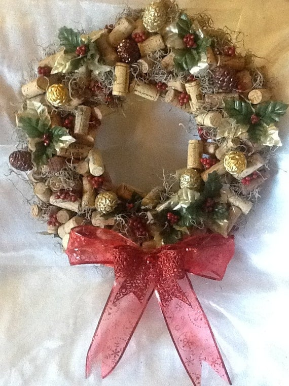 wine cork ideas crafts items similar to made wine cork wreath on etsy 5726