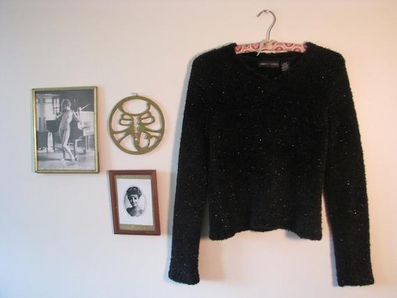 90s Fuzzy Black Sweater