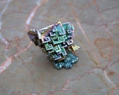 Large Bismuth Crystal Cluster Iridescent colors