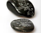 Hand Painted Stone - drawings on wedding theme. Made to order