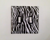 Zebra Light Switch Plate Black and White Lightswitch Outlet