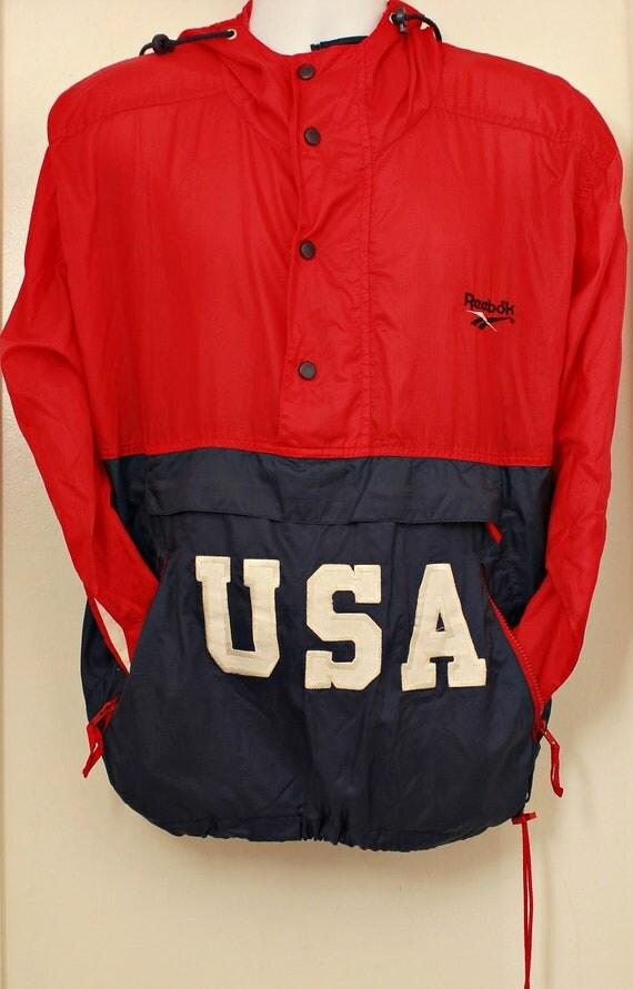 80's Vintage REEBOK Windbreaker USA Pullover/Jacket Sz: