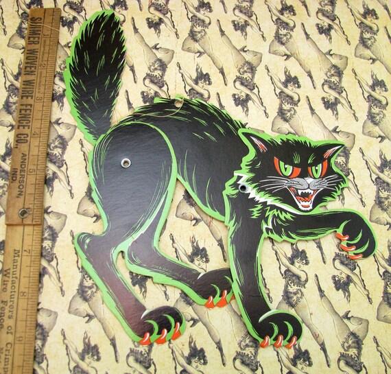Vintage Beistle Halloween Decoration - Jointed Black Cat