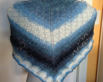 Knit Blue Shawl