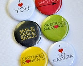 I Love You - set of six badges/ flair buttons