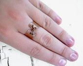 CLEARANCE SALE - Stitch Ring - Copper Ring - Unique Quirky Ring - Rustic Ring - Corset Ring - Size 8 Ring - STEAMPUNK Collection