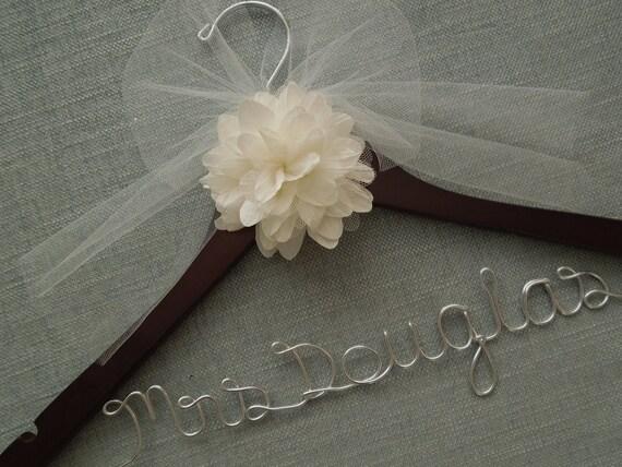 Elegant Bridal Hanger, Bridal Shower Gift, Engagement Gift, Wedding Hanger, Wedding Dress Hanger