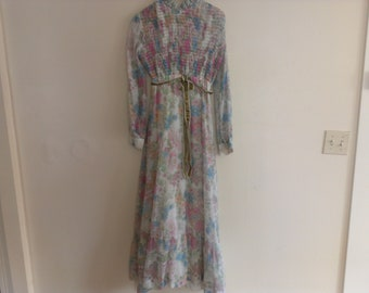 70s seventies floral dress medium