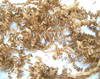 8 oz Kraft Brown Paper Shred - Krinkle cut Shredded Paper Filler - Crinkle Packaging Material