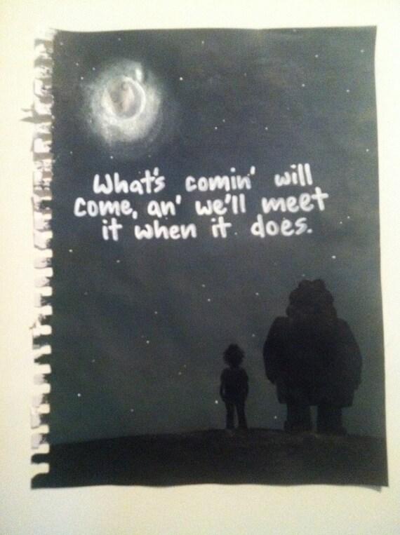 Hagrid Quote Painting