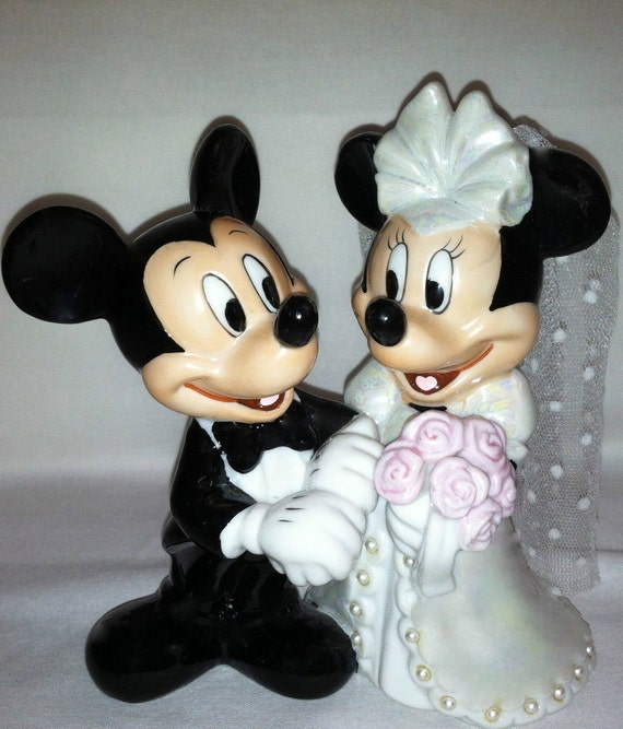 etsy disney wedding cake toppers vintage disney mickey and minnie wedding bridal cake topper 14045
