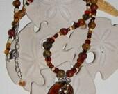 Murano Heart Pendant Necklace