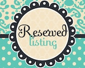 Reserved Lisiting for Tiffany