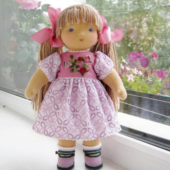 "Special order for Kyla - advance 50% - Waldorf doll 14"" - 15""  inches - Rosochka - A gift for birthday - girl"