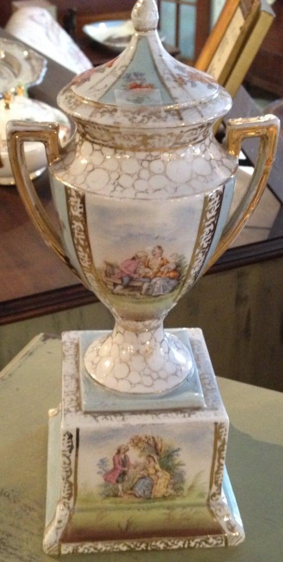 Vintage Victoria Carlsbad Austria Urn Vase By Vintagehipdecor