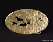 Recycled Brass Hunting Day Belt Buckle