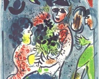 Chagall Original Lithograph, 1969