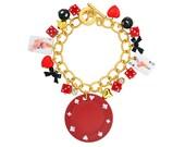 Poker Chip Pin Up Charm Bracelet