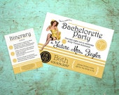 Printable Pinup Bachelorette Invitation with Itinerary