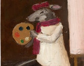 Fine Art PRINT Mouse, Artist, Animals from Original Painting - The Artist Mouse