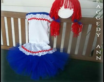 Raggedy Ann Costume / Girl Costume / Halloween / Birthday / Dress up / Pageant OOC Outfit of Choice / Doll