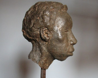 Bronze Bust of African american Women