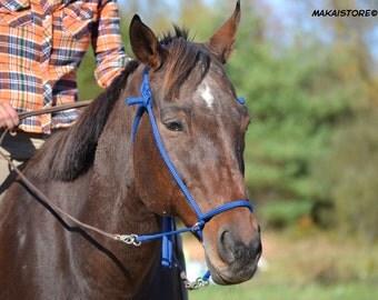 Adjustable Bitless Horse Bridle // Med-Lg (Arab/Cob to Average Size Horse)