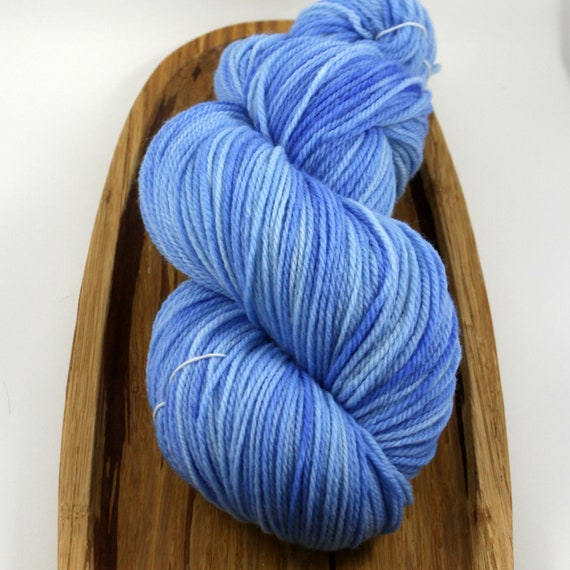 Pure Sport- Not A Cloud 1, hand-dyed 100% merino wool, 3-ply, 420 yds