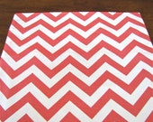 CORAL TABLE RUNNER Wedding Shower 13 x 72  Chevron Table Runners Holiday Coral Chevron Table runners
