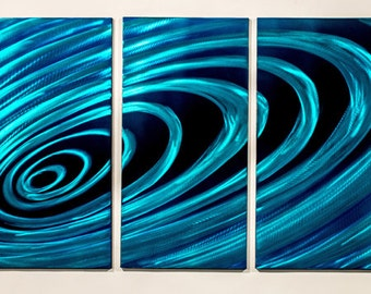 Modern Abstract Painting Metal Wall Art Sculpture Ripple