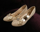 50 % OFF,The new one gold flash wedding shoes/bridesmaid shoes (BS122002)