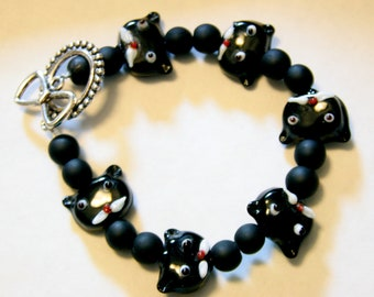 Black Kitty Kat Bracelet.