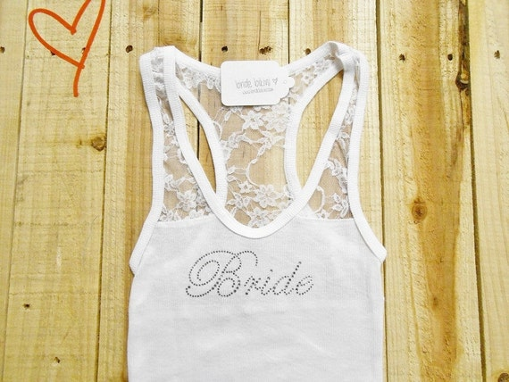 Bride Tank Top. Half Lace Tank. Bridesmaid, Bride, Wifey, Wife, Maid of Honor. White, Black, Blue, Purple, Pink. S M L.