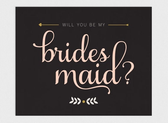 Printable Will you be my Bridesmaid Card