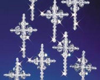 "Crystal Crosses 1.25"" Makes 6 Christmas Ornament Kit"