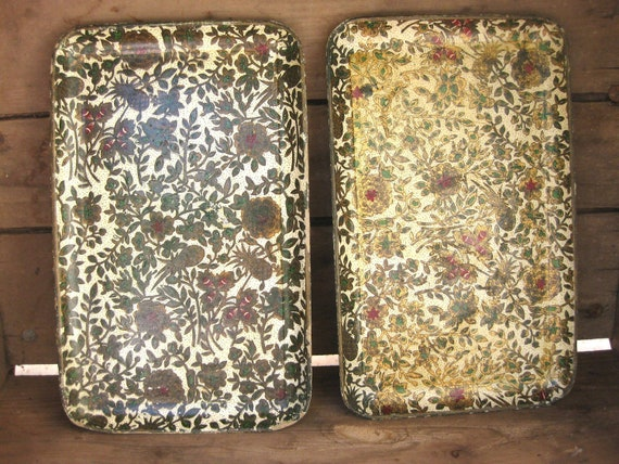 Pressed Paper Mache Trays, Alfred E. Knobler, Made in Japan