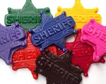 Sheriff Badge Crayons - Set of 8